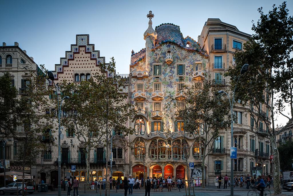 Photo de l'architecture de Gaudi à Barcelone