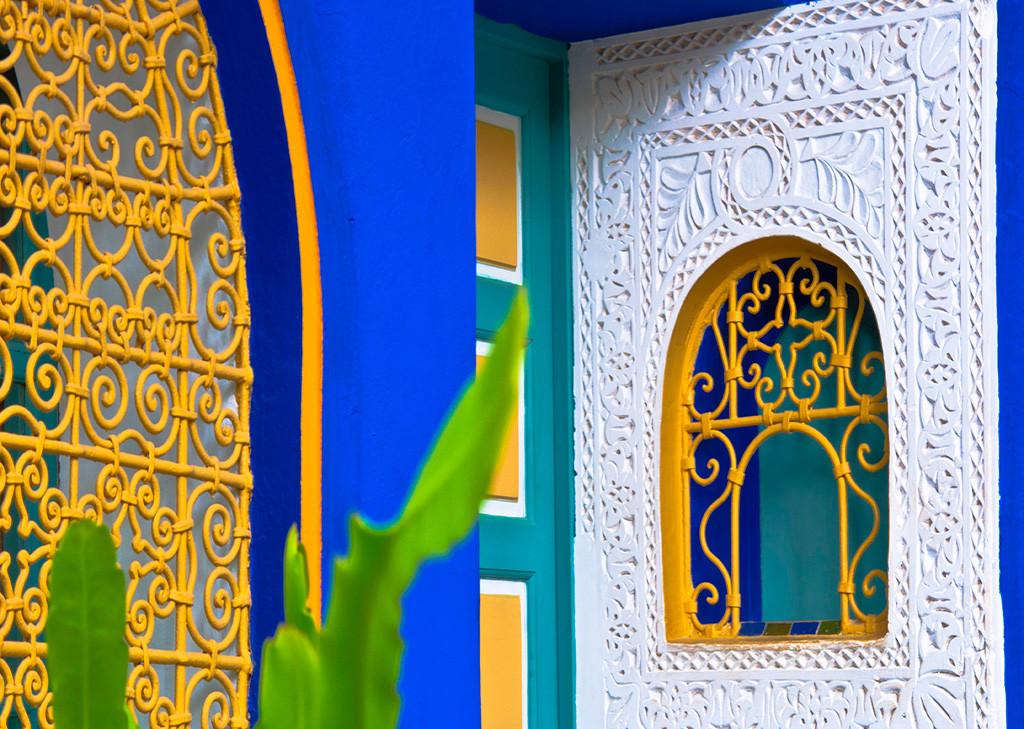 photo d'une façade colorée de Djerba en Tunisie