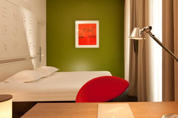 Photo d'une chambre design de l'hôtel Gutenberg 3* à Strasbourg
