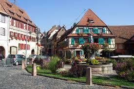 Photo d'un hôtel dans une maison typique d'Alsace