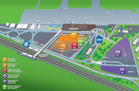 Accès facile à tous les parkings de l'aéroport de Strasbourg