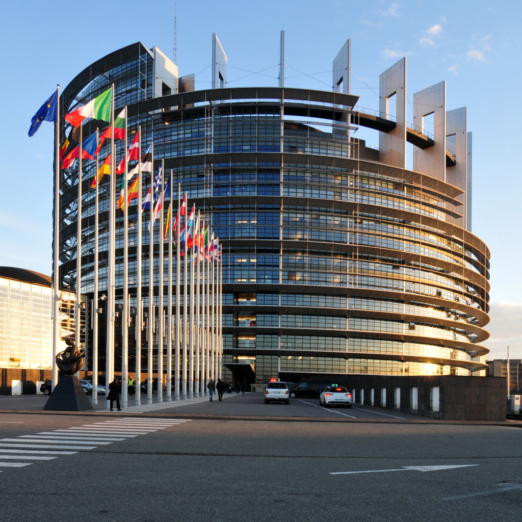 Photo du parlement européen de Strasbourg
